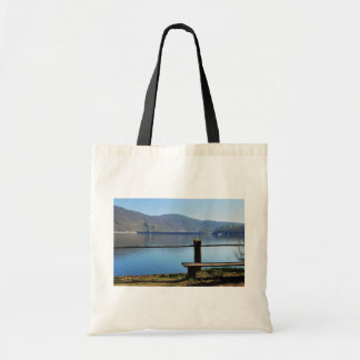 Edersee concrete dam from the water side tote bag