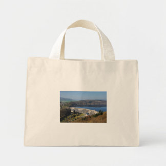 Edersee concrete dam in the spring mini tote bag
