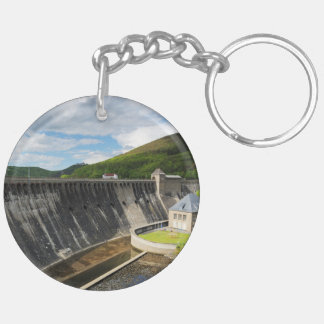 Edersee concrete dam with closed forest-hits a keychain