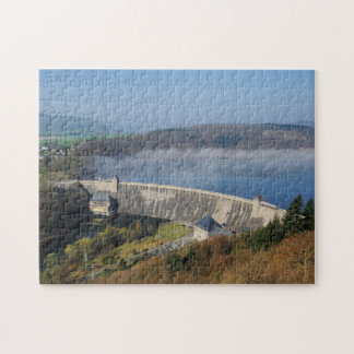 Edersee concrete dam with fog jigsaw puzzle
