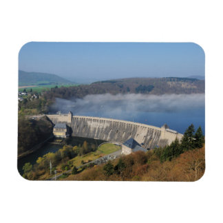 Edersee concrete dam with fog magnet