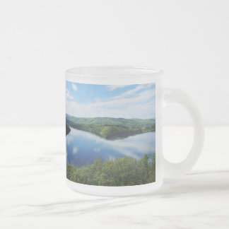 Edersee prospect of closed forest-hits a corner frosted glass coffee mug