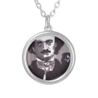Edgar A. Poe Silver Plated Necklace