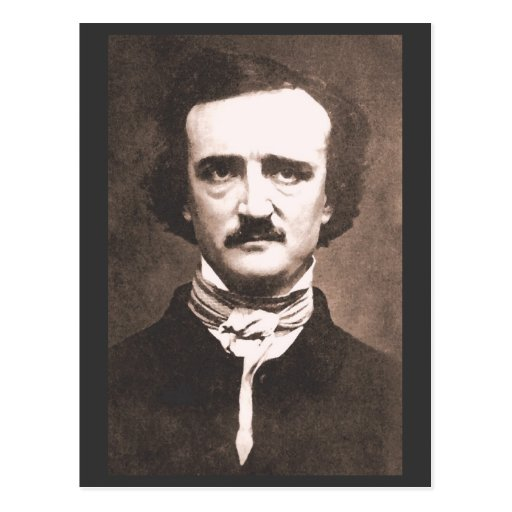 Edgar Alan Poe Postcard