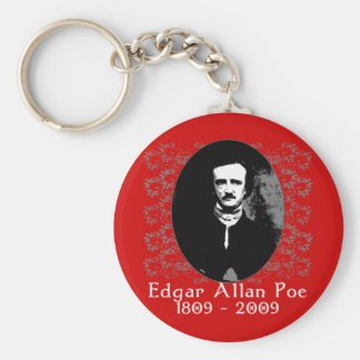 Edgar Allan Poe 1809-2009 Anniversary T shirt Basic Round Button Keychain