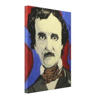 "'Edgar Allan Poe' 18"" x 24"" Stretched Canvas Print"
