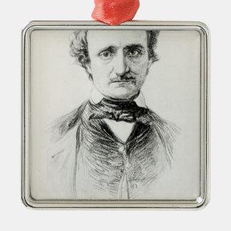 Edgar Allan Poe  1907 Metal Ornament