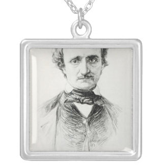 Edgar Allan Poe  1907 Silver Plated Necklace