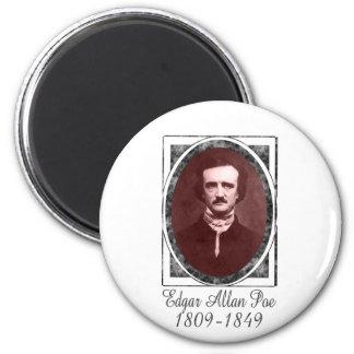 Edgar Allan Poe 2 Inch Round Magnet