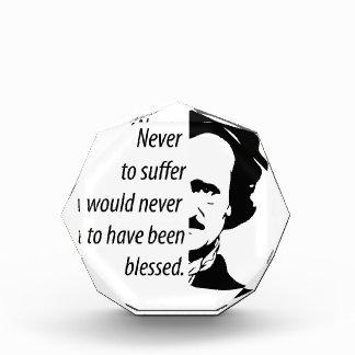 Edgar Allan Poe Acrylic Award