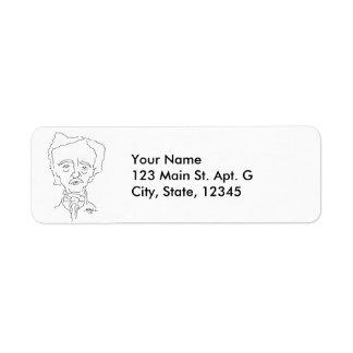 Edgar Allan Poe Address Labels