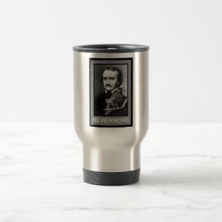 Edgar Allan Poe and his Raven Travel Mug