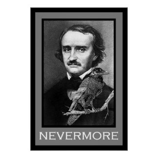 Edgar Allan Poe and Raven Poster