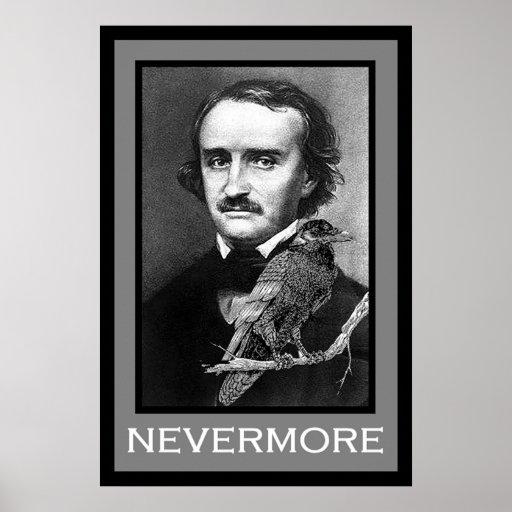 Edgar Allan Poe and Raven Poster