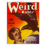 Edgar Allan Poe and Raven Pulp Magazine Cover Card