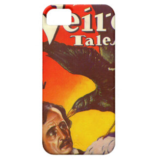 Edgar Allan Poe and Raven Pulp Magazine Cover iPhone 5 Covers