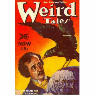 Edgar Allan Poe and Raven Pulp Magazine Cover Cutout