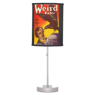 Edgar Allan Poe and Raven Pulp Magazine Cover Desk Lamp