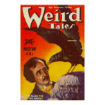 Edgar Allan Poe and Raven Pulp Magazine Cover Poster