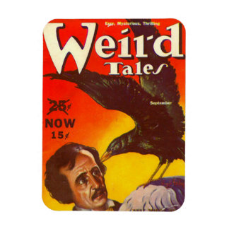 Edgar Allan Poe and Raven Pulp Magazine Cover Flexible Magnets
