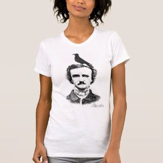 Edgar Allan Poe and raven Tshirts