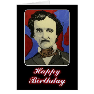'Edgar Allan Poe' Birthday Card