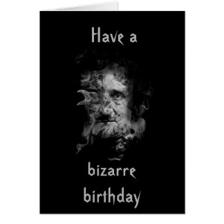 Edgar Allan Poe Birthday Card (dark cover)