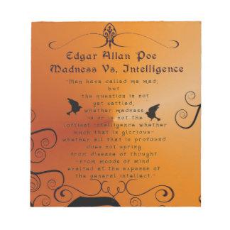 Edgar Allan Poe Bloc De Notas
