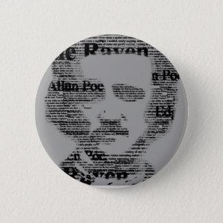 Edgar Allan Poe Bottom Pinback Button