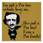 Edgar Allan Poe Boy Funny Poster Sign Quotes