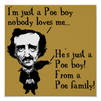 Edgar Allan Poe Boy Funny Poster Sign Quotes