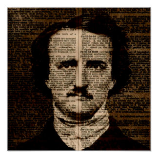 Edgar Allan Poe Dictionary page Poster