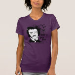 Edgar Allan Poe divertido Camisetas