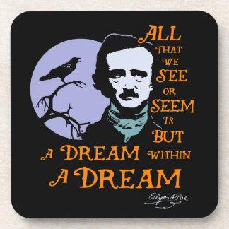 Edgar Allan Poe Dream Within A Dream Quote Coaster