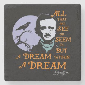 Edgar Allan Poe Dream Within A Dream Quote Stone Beverage Coaster