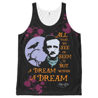 Edgar Allan Poe Dream Within A Dream Quote All-Over Print Tank Top