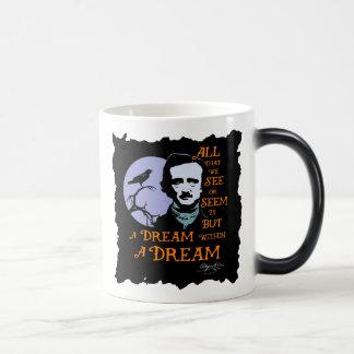 Edgar Allan Poe Dream Within A Dream Quote Magic Mug