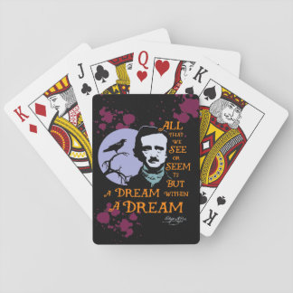 Edgar Allan Poe Dream Within A Dream Quote Playing Cards