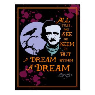 Edgar Allan Poe Dream Within A Dream Quote Postcard