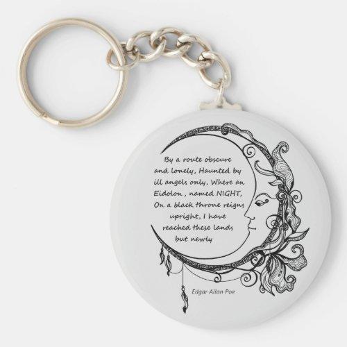 Edgar Allan Poe Dreamland Dream Poem  Keychain