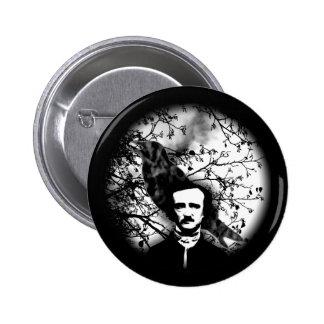 Edgar Allan Poe 'el Raven Pin Redondo De 2 Pulgadas