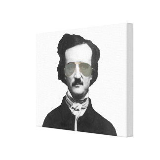 Edgar Allan Poe en gafas de sol Impresiones En Lona Estiradas