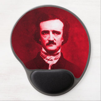Edgar Allan Poe en rojo Alfombrilla Con Gel