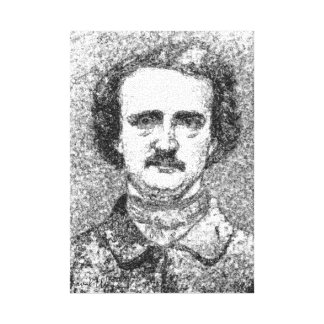 Edgar Allan Poe estiró la impresión de la lona Impresion De Lienzo
