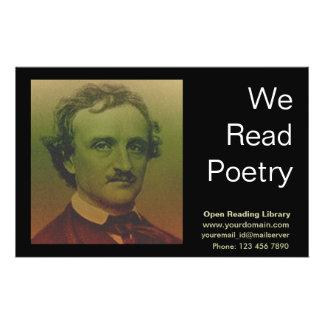 Edgar Allan Poe Flyer Personalizado