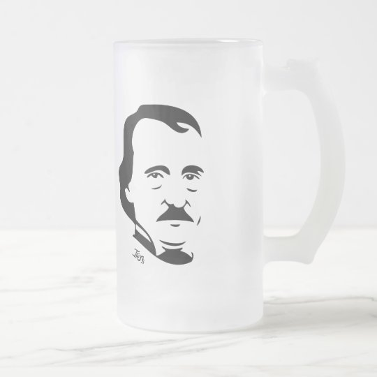 Edgar Allan Poe Frosted Mug