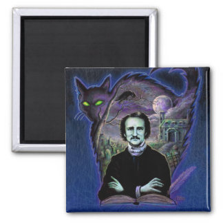 Edgar Allan Poe Gothic 2 Inch Square Magnet