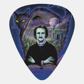 Edgar Allan Poe Gothic Guitar Pick by themonsterstore at Zazzle