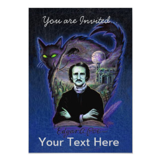 Edgar Allan Poe Gothic 5x7 Paper Invitation Card