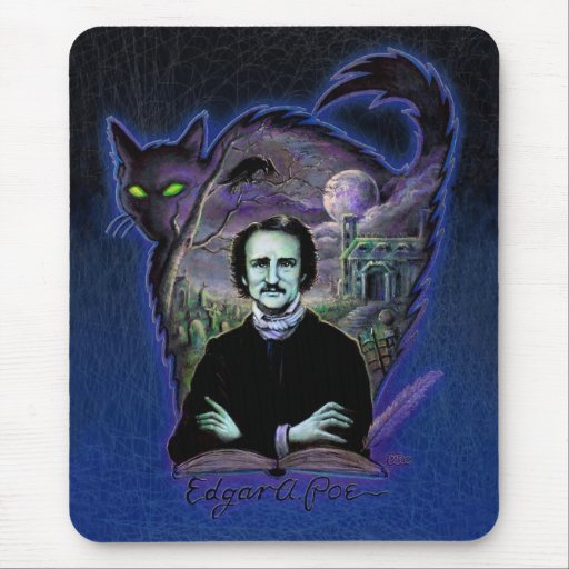 Edgar Allan Poe Gothic Mouse Pads